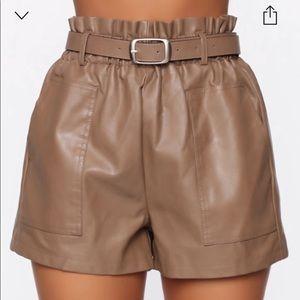 Fashion Nova Paperbag Shorts